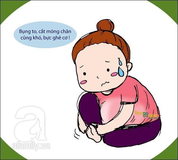 Với các mẹ bầu, một việc nhỏ nhặt và dễ như trở bàn tay đó là cắt móng chân cũng trở nên khó khăn hơn bao giờ hết. Bụng càng to ra đồng nghĩa với việc họ sẽ bất lực với việc cắt móng chân.