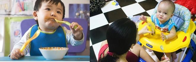Trẻ Nhật đã được bố mẹ dạy tự cầm thìa ăn từ nhỏ